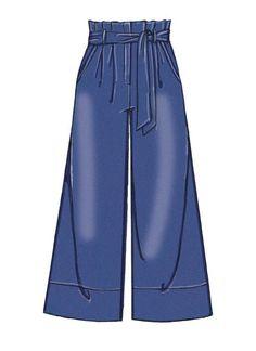 Fashion Drawing McCall's Misses' Shorts, Pants and Sash Dress Design Drawing, Dress Design Sketches, Fashion Design Drawings, Dress Drawing, Drawing Clothes, Fashion Sketches, Fashion Drawing Dresses, Fashion Dresses, Kleidung Design