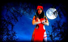 Elektra cosplay   #cosplay #elektra #photoshop #greenscreen #halloweenideas