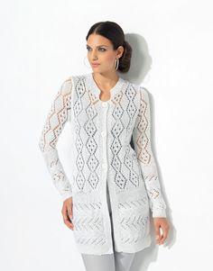 Książka Kobieta Elegance 66 Wiosna / Lato    36: Kobiety Jacket    Biały
