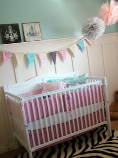 tHe fiCkLe piCkLe: the Nursery - adorable girl nursery! wish i knew what i was having!