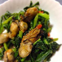ダブル牡蠣アクセントは枸杞の実(*ノ▽ノ) - 62件のもぐもぐ - 牡蠣のオイスターソース炒め by hiro