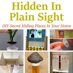 Hiding In Plain Sight - DIY Secret Hiding Places In Your Home DIY Secret Hiding Places In Your Home. Hidden storage, secret storage, wall storage, concealed storage, and hidden safe ideas.