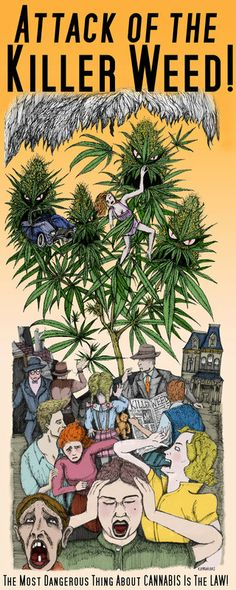 Attack of the Killer Weed! The mist dangerous thing about cannabis is the law! Marijuana Art, Medical Marijuana, Cannabis Oil, Mary Janes, Weed Memes, Weed Art, Puff And Pass, Skateboard Design, Oldschool