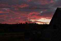 Sunrise over the heifer pasture