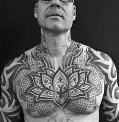 BLACKWORK TATTOOS  Custom Dotwork Chest Tattoo Tattooed By