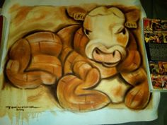 Slaughter House Cow 16x24 Abstract Cubism Painting Tommervik