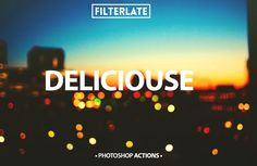 Deliciouse FiltersA set of 15 actions created especially for photographers, designers and other creative. They had been realized with great precision and tested on many photos to be sure I offered a great product and professional actions to be used on your photos.What's included15 ATN.Readme file.Ea