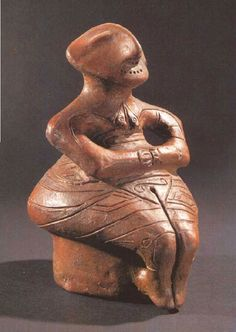Late Mesolithic-Early Neolithic, Karanovo Culture Goddess Figurine -- Excavated from Bulgaria.