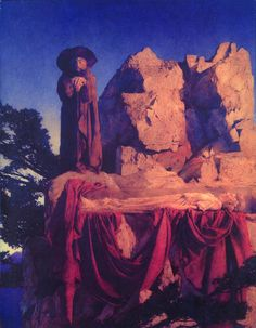 Snow White - From The Story of Snow White, Maxfield Parrish, 1912. Oil on Panel. Collection of the California Palace of the Legion of Honor
