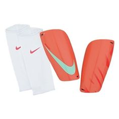 3% off of your order over $100! Nike Mercurial Lite Soccer Shinguards (Pink/Red/Arctic Green) #soccercorner