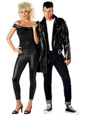Grease Sandy and Danny Couples Costumes. I want to do this zombie style soo bad. I dont think John would be into it and I dont have the body to pull of sexy sandy