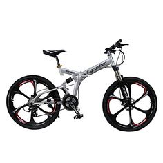 Mountain Bike Folding frame Bike Dual Suspension Mens bike Silver Shimano M310…