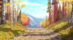 Gravity Falls S1E9 background art