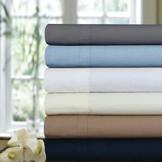 Three Posts Bolivar 300 Thread Count Egyptian Quality Cotton Percale Deep Pocket Sheet Set Size: Twin, Color: Ivory