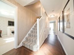 Love this hallway floor and stairs carpet