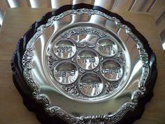 Vintage Judaica 12-3/4 inch silver plated Passover by shainkeit