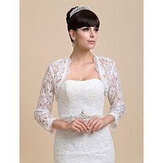 gepersonaliseerde half mouw kant bruiloft / feest wraps (meer kleuren) bolero schouderophalen – EUR € 26.45