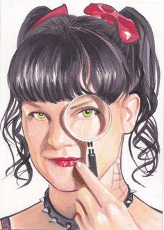 Magnify by SarahSilva on DeviantArt Ncis Abby, Ncis New, Celebrity Caricatures, Celebrity Drawings, Ncis Characters, Ncis Tv Series, Ncis Gibbs Rules, Ncis Cast, Ziva David