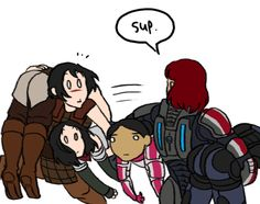 Mass effect and dragon age 2 crossover Dragon Age Memes, Dragon Age Funny, Dragon Age 2, Mass Effect Funny, Mass Effect 1, Skyrim, Videos Fun, Commander Shepard, Dragon Age Inquisition