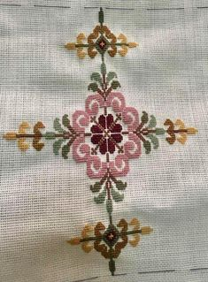 This Pin was discovered by neş 123 Cross Stitch, Cross Stitch Pillow, Cross Stitch Letters, Simple Cross Stitch, Beaded Cross Stitch, Cross Stitch Borders, Cross Stitch Designs, Stitch Patterns, Embroidery Sampler