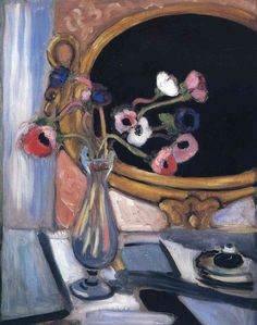 Anemone and Mirror, 1920 Henri Matisse - by style - Post-Impressionism Henri Matisse, Matisse Kunst, Matisse Art, Maurice De Vlaminck, Matisse Paintings, Art Sur Toile, Post Impressionism, Raoul Dufy, Van Gogh