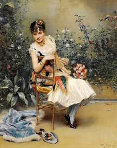 """madrazo raimundo alina masson with flowers (from <a href=""""http://www.oldpainters.org/picture.php?/29547/category/13115""""></a>)"""