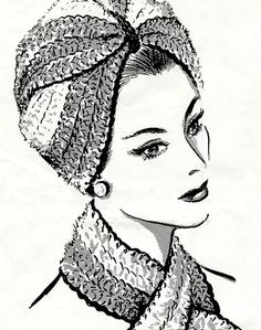 Vintage crochet turban pattern re-written to use with modern yarn and hook sizes. PDF download pattern.