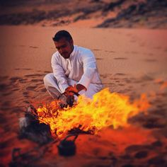 tea at sunset in the desert #JetsetterCurator