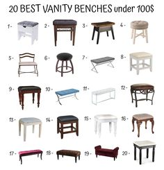 How to Buy the Right Vanity Bench - Home Furniture Design