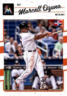 Marcell Ozuna Miami Marlins, Trading Cards, Baseball Cards, Boys, Sports, Summer, Baby Boys, Hs Sports, Picture Cards