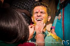 Haldi Ceremony! The Haldi ceremony is generally held a day before the wedding in both the bride and groom's place.The Haldi ceremony or the Ubtan ceremony prepares the bride and the groom for the wedding day. It is like an in-home beautification process before the wedding.