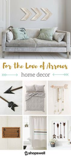 The arrow home decor trend is still going strong. Perfect for a modern or rustic home, or even in a baby nursery! Clickthrough to shop the decorating collection.