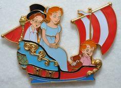 View Pin: WDI - Peter Pan's Flight - John, Wendy & Michael Darling