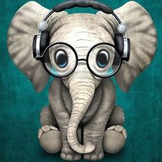 Cool Funny Elephant Tattoo Design