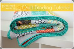 Never hand sew a quilt binding again! This method looks as good as hand sewn but takes a fraction of the time. | VanillaJoy.com