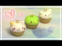 Sumikko Gurashi Cupcake Charms polymer clay tutorial