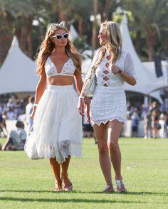 Paris Hilton and Nicky Hilton walking around at Coachella.   - Cosmopolitan.com