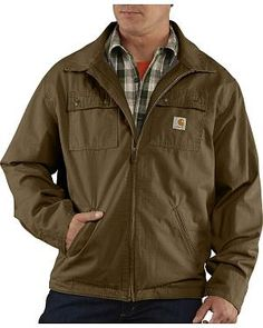 Carhartt Flint Jacket - Big & Tall: Constructed of 9.5-ounce, 100% cotton ripstop. Exterior… #CowboyClothing #Westernwear #CowgirlBoots