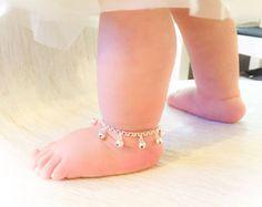 Boho Baby Bell Anklet in Gold or Silver  Girls Ankle Bracelet