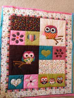 Owl quilt, hand stitched by Ginnie's Threads (find me on Facebook). $65