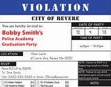 Police Ticket Invitation - Customiz ed by me, Printed by you ...