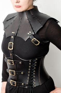 mord sith costume, leather. The neck part is amazing, and would be very handy.