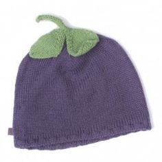 Babymütze Alpaka Aubergine Violett