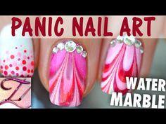 [Panic Nail Art] Tuto Water Marble candy et dégradé de points très facile - YouTube
