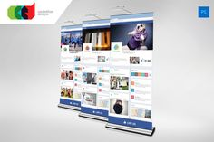 Facebook Style Roll Up Banner by Cooledition on Creative Market
