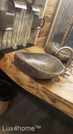 River stone vessel sink bathroom – natural in High quality rock made of natural stone. Manufactured from river stone in Indonesia. Our stone basins are used as hotel sinks, stone Source by