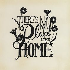 There's No Place Like Home - Scherenschnitte - by Cindy Bean