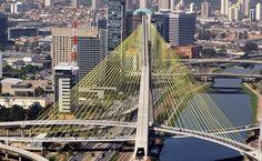Ponte Estaiada - São Paulo - Brasil - Brazil. (fonte: www.viajeaqui.abril.com.br)