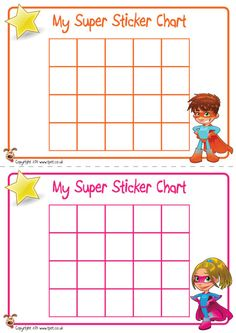 Teacher's Pet Displays » Superhero Sticker Charts » FREE downloadable EYFS, KS1, KS2 classroom display and teaching aid resources » A Sparklebox alternative