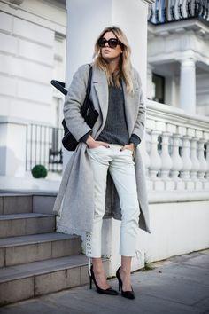 Cos coat, Isabel Marant Pour H&M pants, Celine bag, All Saints shoes